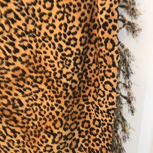 New 2 pc Leopard sarong swimsuit coverup